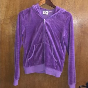 UC Purple Juicy Couture Zip up with Hood Size XL